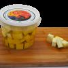 Dados queso semicurado de cabra