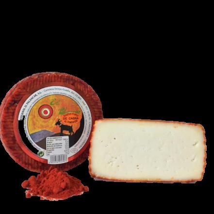 Queso de cabra semicurado al pimentón