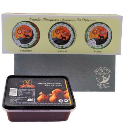 OFERTA Surtido Miniquesos + Crema de Membrillo + Tabla de pizarra